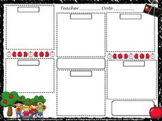 Printable File Folder Games, Other Fun Classroom Activities: free lesson plan template Daycare Lesson Plans, Pre K Lesson Plans, Infant Lesson Plans, Daily Lesson Plan, Lesson Plans For Toddlers, Lesson Plan Templates, Fun Classroom Activities, Preschool Curriculum, Free Preschool