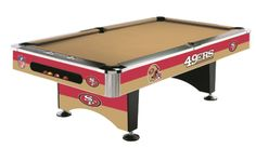 San Francisco 49ers 8' Pool Table