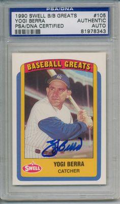 Yogi-Berra-Signed-Autographed-PSA-DNA-Trading-Card #yogiberra #berra #signedcard #autograph