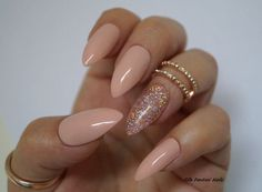 Nude Stiletto Nails Holographic stiletto nails by FifeFantasiNails