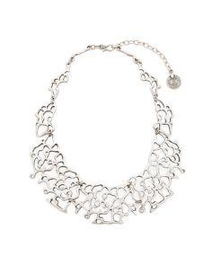 Delhi Necklace - pewter