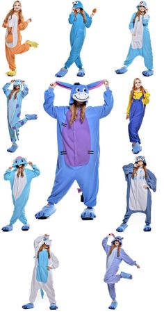 Cartoon Hot Adult Unisex Onesie Kigurumi Pyjamas Anime Kostüm-Kleid-Nachtwäsche