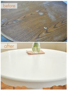 Painting a Kitchen Table (and how to protect paint job with wax finish).