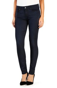 DARK DENIM    PAIGE PAIGE 'Transcend - Verdugo' Ultra Skinny Jeans (Abrielle) #Nordstrom