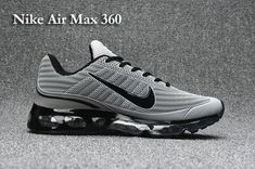 watch 26d5b 2dd13 Authentic Nike Shoes For Sale, Buy Womens Nike Running Shoes 2014 Big  Discount Off Nike Air Max 360 Men s shoes Black Grey -