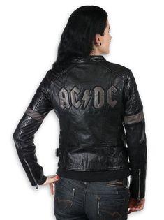 Oryginalna i stylowa damska kurtka AC/DC. Kurtka została wykonana z wysokiej jakości skóry owczej. Skóra jest zmiękczona - bardzo miękka i przyjemna w dotyku, można nosić praktycznie przez cały rok (długa żywotność i trwałość). Do produkcji skór anilinowych używane są absolutnie najszlachetniejsze skóry bez skaz, blizn i śladów ukąszeń, ponieważ powierzchnia skóry jest całkowicie widoczna i nie podlega procesowi wytłaczania. Skóry bez takich uszkodzeń są bardzo rzadkie, dlatego skóry… Ac Dc, Leather Jacket, Jackets, Fashion, Studded Leather Jacket, Down Jackets, Moda, Leather Jackets, Fashion Styles