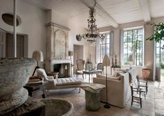 Charming Gorgeous French Country Farmhouse Living/neutral And Creme Tones  Throughout~ | //Beautifully Designed Spaces | Pinterest | French Country Living  Room, ...