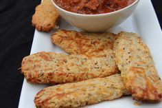Bread sticks – low carb and gluten free « Divalicious Recipes In The City Gf Recipes, Gluten Free Recipes, Low Carb Recipes, Vitamix Recipes, Low Carb Marinara, Marinara Sauce, Gluten Free Dinner, Foods With Gluten, Keto Bread