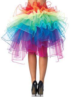 GELAAGDE TULLE PETTICOAT IN REGENBOOG KLEUREN , RAINBOW BUSTLE SKIRT, een maat, €29,95 (excl. hotpants  >> burlesque layered petticoat skirt / bustle skirt