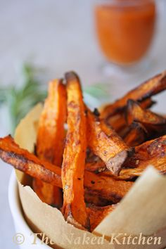 Sweet Potato Beer Fries with Roasted Tomato Ketchup