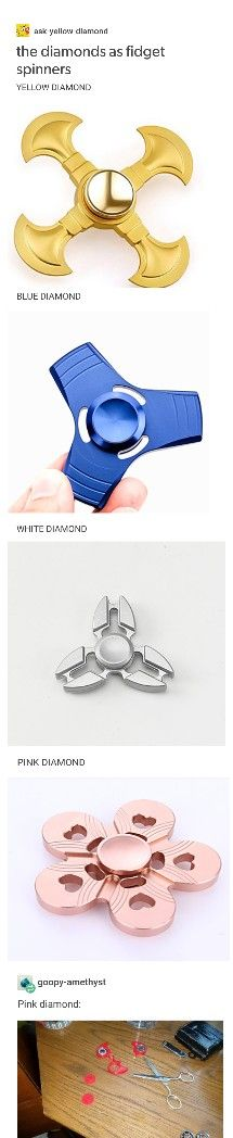 Diamonds as fidget spinners