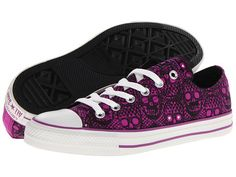 Converse Chuck Taylor® All Star® Skull Ox Purple Cactus Flower - Zappos.com