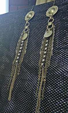 the Christine design Long Waziri Fall Earrings by PatriceLangford, $40.00