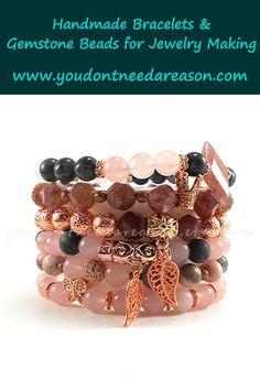 Gemstone Bracelets, Handmade Bracelets, Bracelet Set, Bracelet Clasps, Pearl Bracelet, Gemstone Beads, Fall Jewelry, Holiday Jewelry, Summer Jewelry