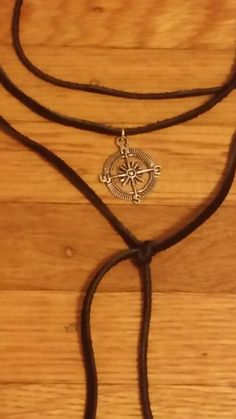 Leather Compass Choker