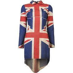 REIGN Union jack dress ($685) ❤ liked on Polyvore