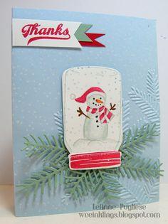wee inklings - SU - Jar of Cheer - snowman - Christmas