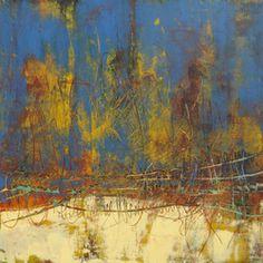 "Cindy Walton, ""Speechless"", 20"" x 20"", oil and cold wax (in Horizon series, www.cindywalton.com)"