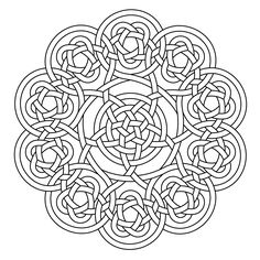 Celtic knot-work Deca Mandala by Peter Mulkers