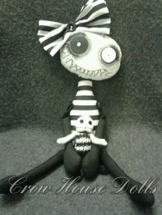 Rinky Dink Luvs Tootsie lil demon doll by Crow House Doll