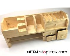 Reduced Price Jewelers Bench Top Organizer with four drawers, plier rack. Organize your work area.