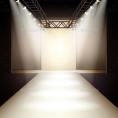Fashion Runway Background by macrovector Empty fashion runway podium stage interior realistic background vector illustration. Editable EPS and Render in JPG format Runway Fashion, Trendy Fashion, Fashion Show, Fashion Design, Concert Stage Design, Catwalk Design, Advanced Style, Scenic Design, Technical Drawing