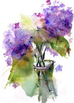 Hydrangeas, Art Print, Hydrangea, Watercolor Print, Painting, Flower Arts, Americana Wall Decor, Art, Pamela Harnois, Gifts by PamelaHarnoisArt on Etsy https://www.etsy.com/listing/190937884/hydrangeas-art-print-hydrangea #hydrangeas #flowers #watercolors #art #artprint #hydrangea