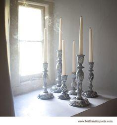 Pansa Hand-painted Candlesticks
