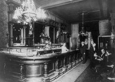 #bar #private club #nyc #1915  Title: Café - Arion Society Club  Date Created/Published: [ca. 1915]  Medium: 1 photographic print.  Summary: Bar in private club in New York City.