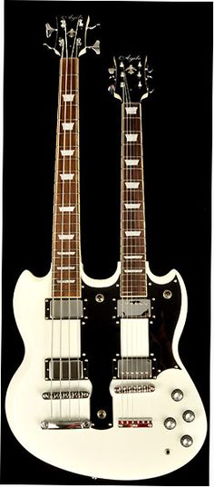 I like this, probably the only way I'd play an SG-ish axe. Agile Valkyrie Double Neck Guitar White 4/6 w/Case - RondoMusic.com