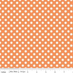 Riley Blake Designs - Knit Basics - Small Dot Knit in Orange Fabric Patterns, Sewing Patterns, Etsy Fabric, Fabric Shop, Thing 1, Polka Dot Fabric, Polka Dots, Sewing Material, Riley Blake