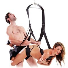 Sex swing Acome Luxury Heavy Duty Indoor Swing Sex chair with Steel Triangle Frame and Spring for Fetish Sex Bondage Unisex Durable Nylon Holds for Couple in Black -- To view further for this item, visit the image link.