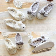 93c2851187ed Details about Womens Ladies Open Back Scuff Slipper Sheep Pattern Sole  Indoor Shoes Home Shoes