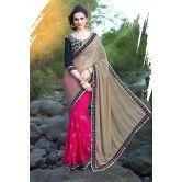 Latest Stylish Heavy Designer Saree With Embroidered Work