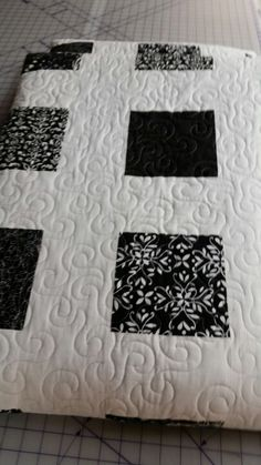 Black and White Quilt Done !  Yeah!