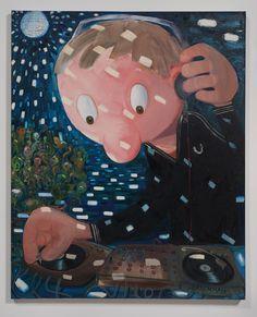 "Nicole Eisenman, ""Death Disco"", Oil on canvas, x Dana Schutz, Female Painters, Barnett Newman, New York School, Jackson Pollock, Vanitas, Mural Painting, Contemporary Paintings, Art World"