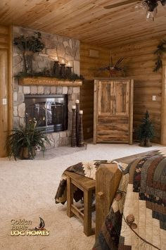 Cathedral Mountain Lodge Rustic Log Bedrooms Rustic Decor