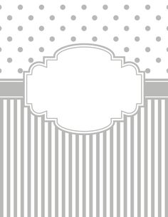 Free printable gray polka dot and stripe binder cover template. Download the cover in JPG or PDF format at http://bindercovers.net/download/gray-polka-dot-and-stripe-binder-cover/