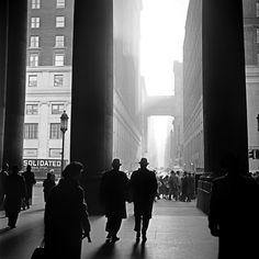 outside Penn Station, 1960 by Nick DeWolf