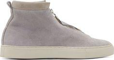 Diemme Grey Suede Fontesi High-Top Sneakers