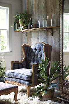 Embroidered Kaili Armchair #anthrofave