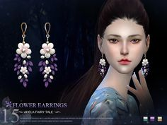 Flowers accessories~ fairy tale style XD~ Enjoy with it!  Found in TSR Category 'Sims 4 Female Earrings'