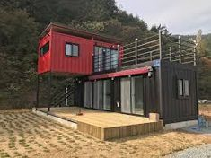 Pretty Small House Design Architecture Ideas Small is in. The small house design requires more creativity to provide everything you want in a smaller space. Building A Container Home, Container House Plans, Container Cabin, Container Office, Storage Container Homes, Cargo Container, Container Architecture, Architecture Design, Container Buildings