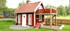 /a playhouse with finesse/ looks like a great tinyhouse for adults, too. Outside Playhouse, Garden Playhouse, Build A Playhouse, Playhouse Outdoor, Outdoor Learning Spaces, Garden Tool Shed, Outdoor Fun, Outdoor Decor, Wendy House