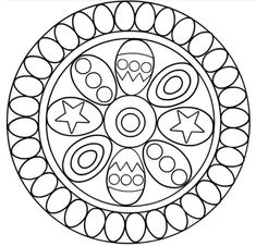 another Easter mandala Spring Coloring Pages, Quote Coloring Pages, Easter Coloring Pages, Mandala Coloring Pages, Colouring Pages, Coloring Sheets, Coloring Books, Blackwork Embroidery, Quilting Templates