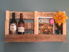 Wine Rack  Book Shelf https://www.etsy.com/shop/TheCrateCaper
