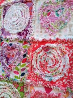 Quilting: Summer In The Park Rag Quilt 42'x49' This Is Adorable - I Need To Re-teach Myself A Few Things!
