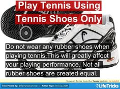 Play Tennis Using Tennis Shoes Only