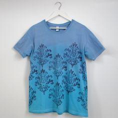 Camiseta deco azul mediterráneo turquesa T-L - María Jurado