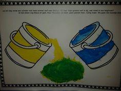Mengen met de schilder in het kleurenwinkeltje